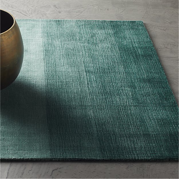 Ombre Deep Teal Rug - Image 1 of 3