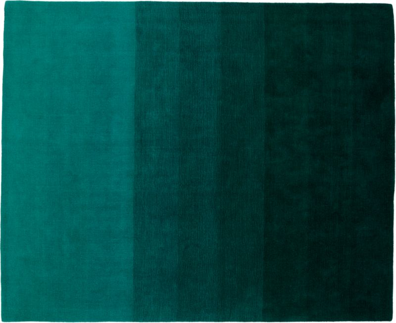 Ombre Teal Rug 8 X10