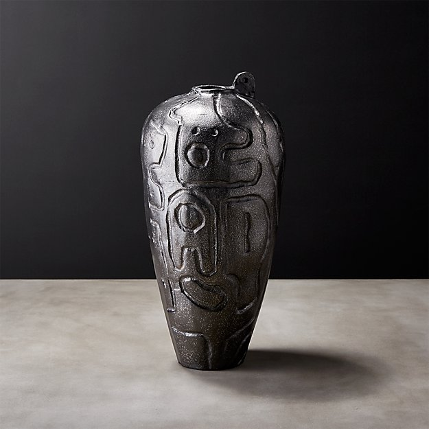 Omec Small Black Vase Reviews Cb2