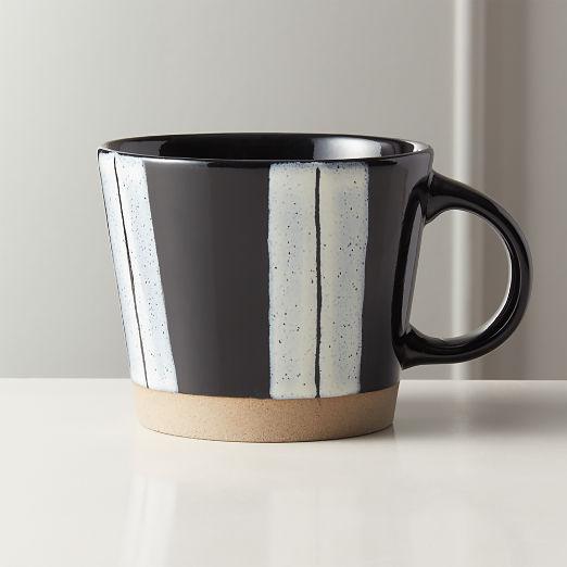 Open Lane Black Clay Mug