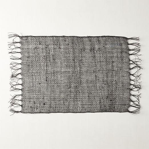 Open Weave Placemat Black