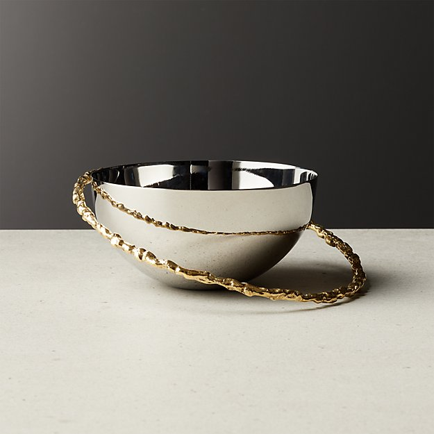 Orbit Small Gold Bowl - Image 1 of 3