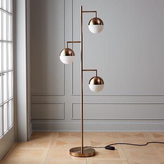 Orbs Champagne Floor Lamp