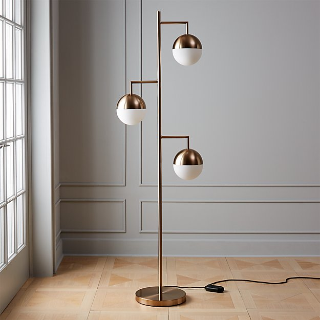 Orbs Champagne Floor Lamp - Image 1 of 9