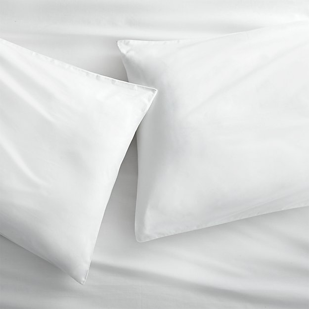Organic White Percale Standard Pillowcases Set of 2 - Image 1 of 12