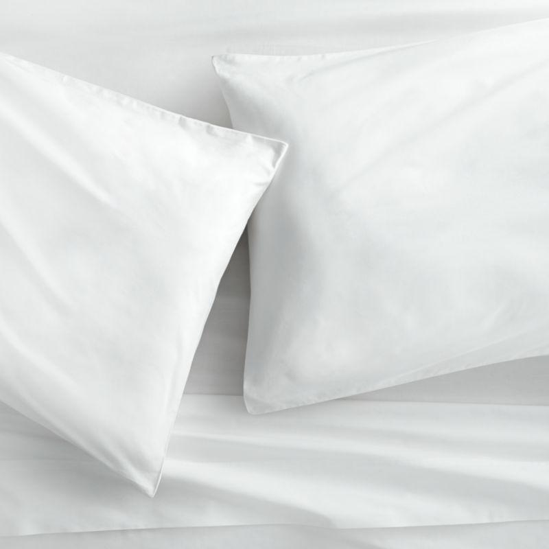 Standard Pillowcase Organic Cotton Percale Bed Sheet USA Chemical Free No Dye