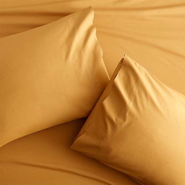 Set of 2 Organic Camel Hair Percale Standard Pillowcases - Image 1 of 3