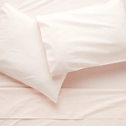 Organic Percale Sheet Set Pink