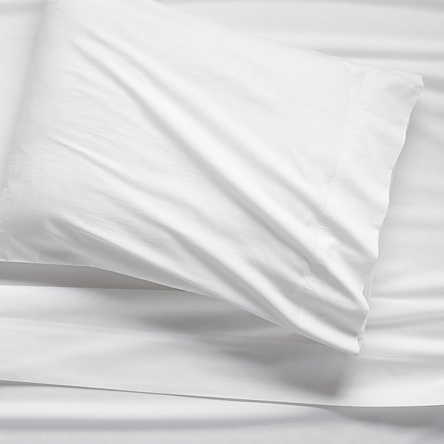 Organic White Percale Twin Sheet Set - Image 1 of 12