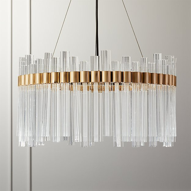 Orion Glass Crystal Chandelier - Image 1 of 9