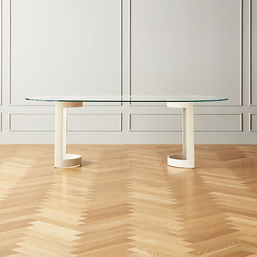 Orrin White Oval Dining Table