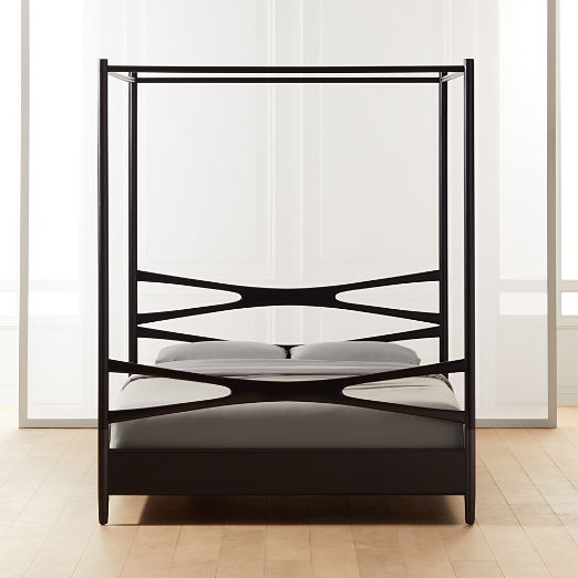 Oslo Black Canopy Bed