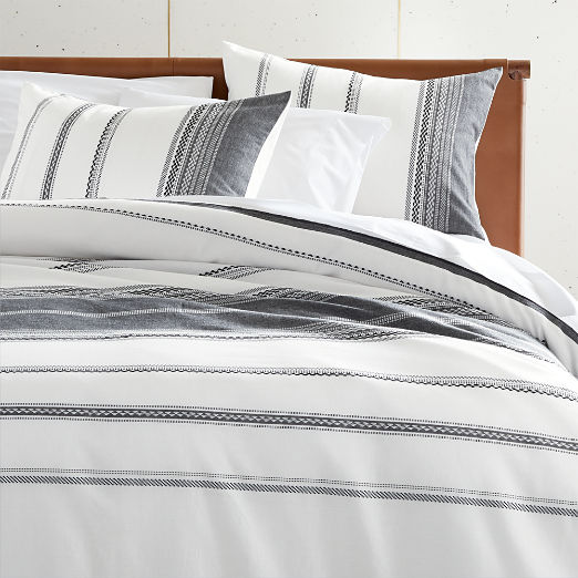 Otto Black and White Woven Bedding