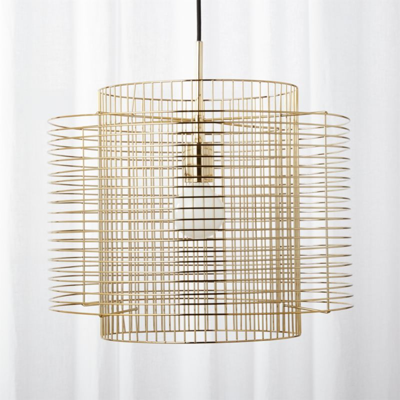 Overlap Brass Cage Pendant Light