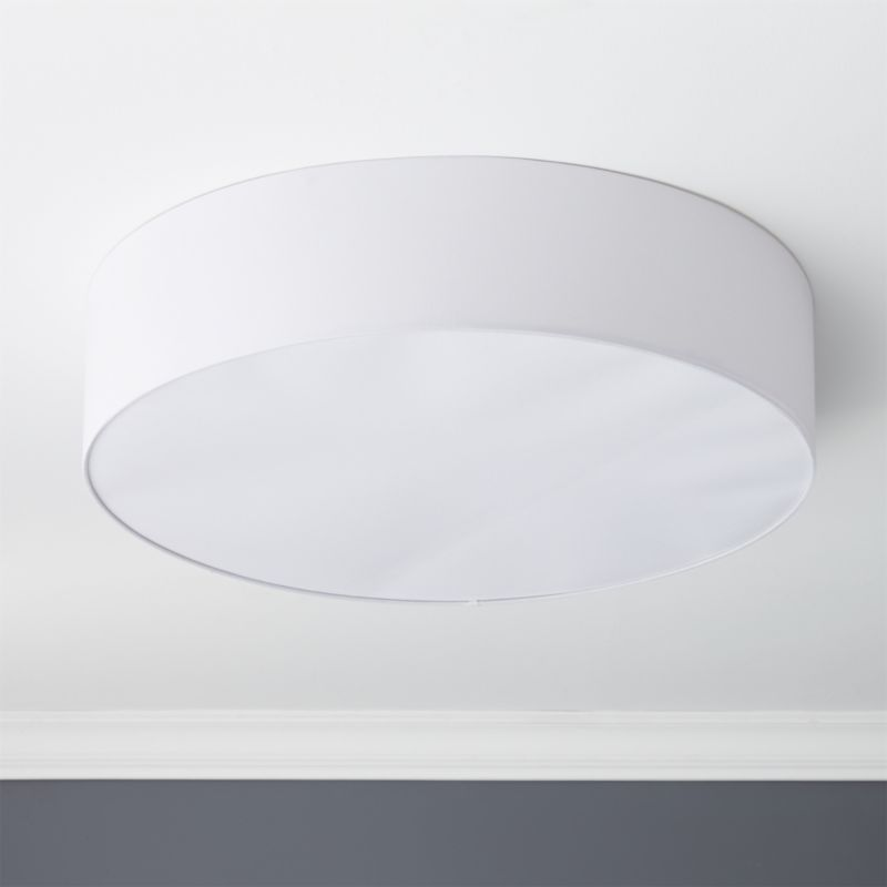 Oversized Drum Flush Mount Light + Reviews | CB2