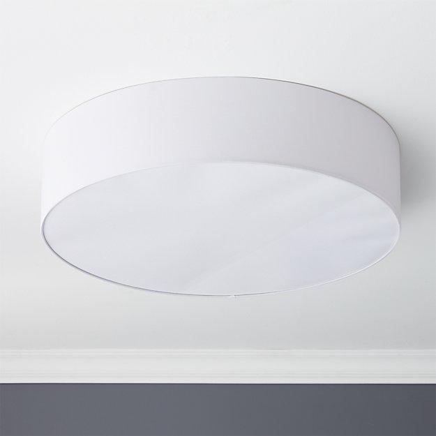 "Drum Flush Mount Light 34"" - Image 1 of 5"