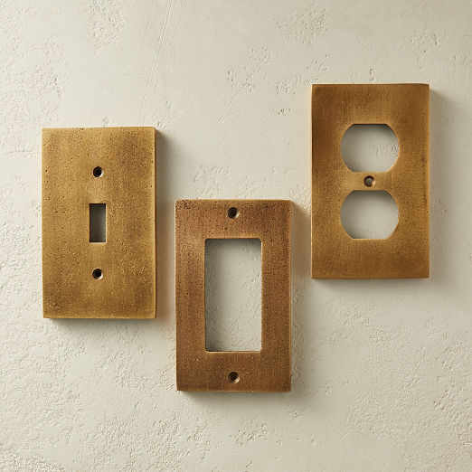 Oxidized Brass Wall Plates