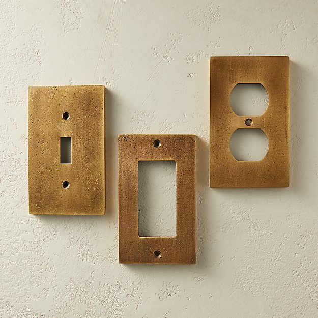 Oxidized Brass Wall Plates - Image 1 of 7
