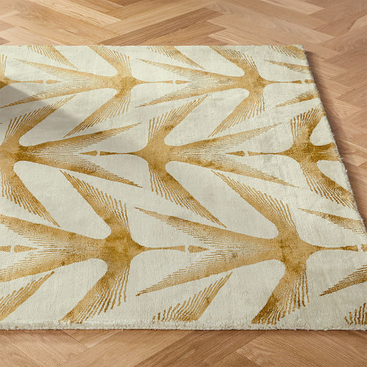 Pacey Ivory and Gold Rug