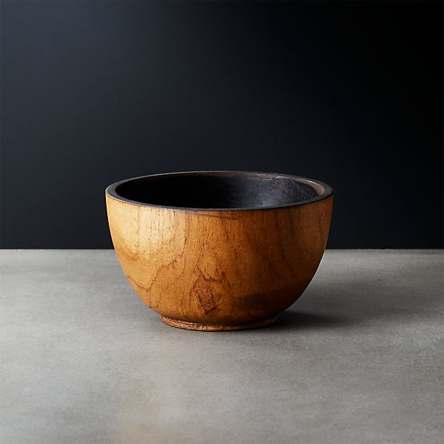 Pacific Teak Wood Appetizer Bowl - Image 1 of 12