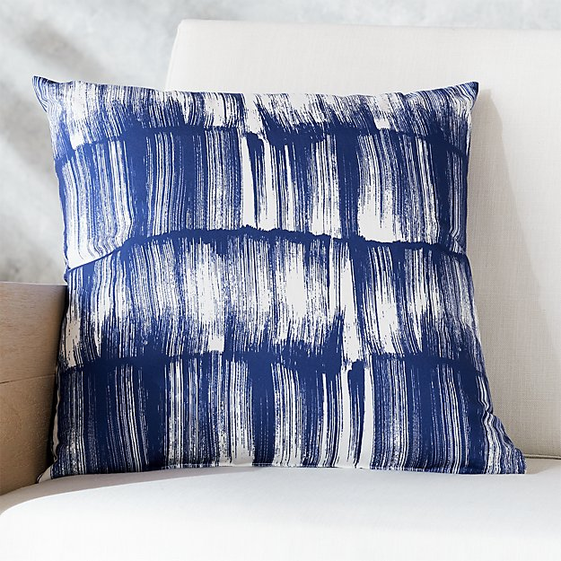 Cb2 Free Shipping >> 20 Paintstrokes Blue White Outdoor Pillow Reviews Cb2