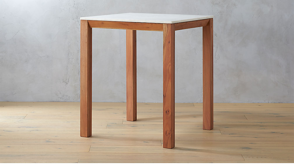 Palate Counter Height Marble Table Reviews CB - Cb2 high top table
