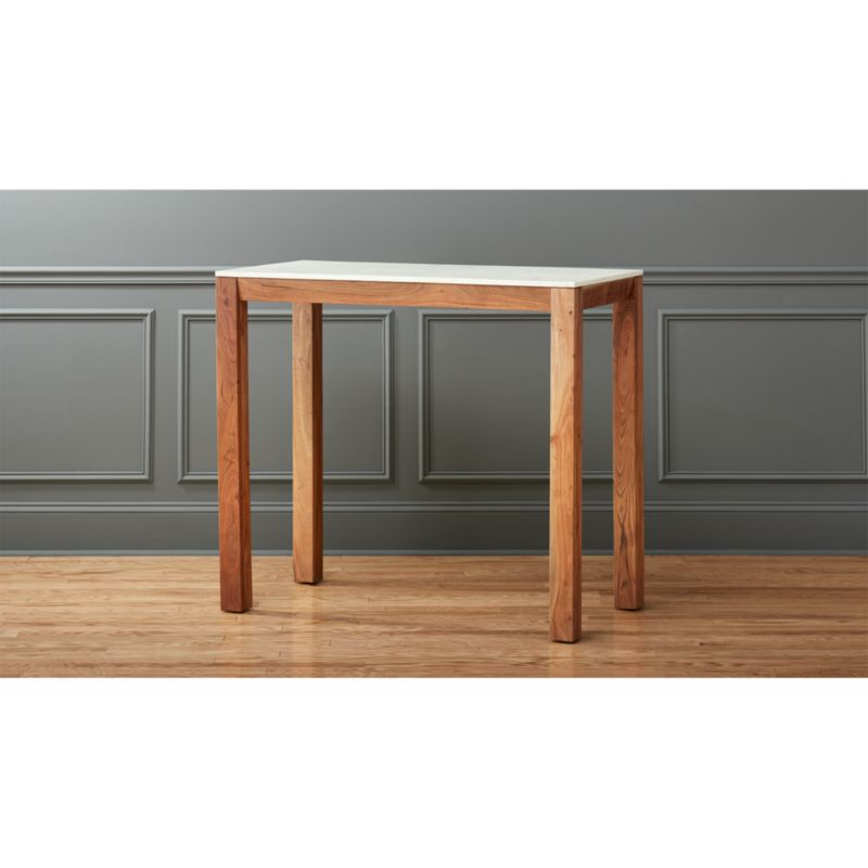 palate high marble top dining table Reviews CB2