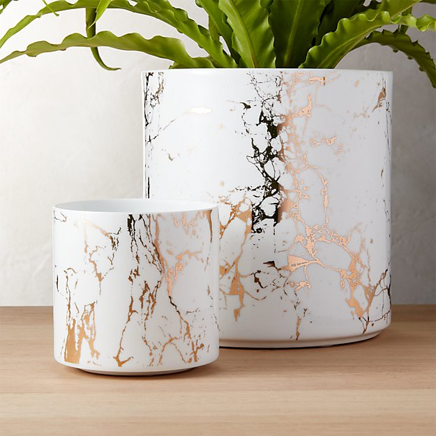 Palazzo Marbleized Planters - Image 1 of 11