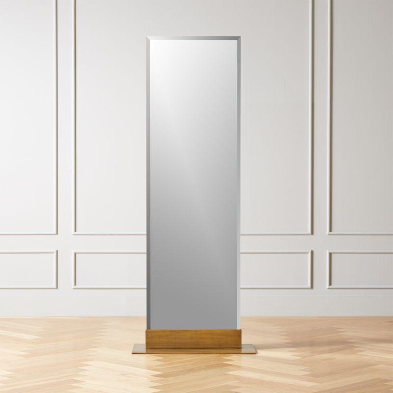 Palisade Br Frameless Floor Mirror