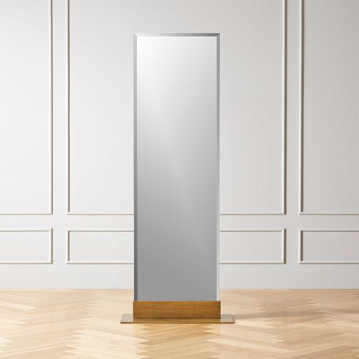 Palisade Brass Frameless Floor Mirror