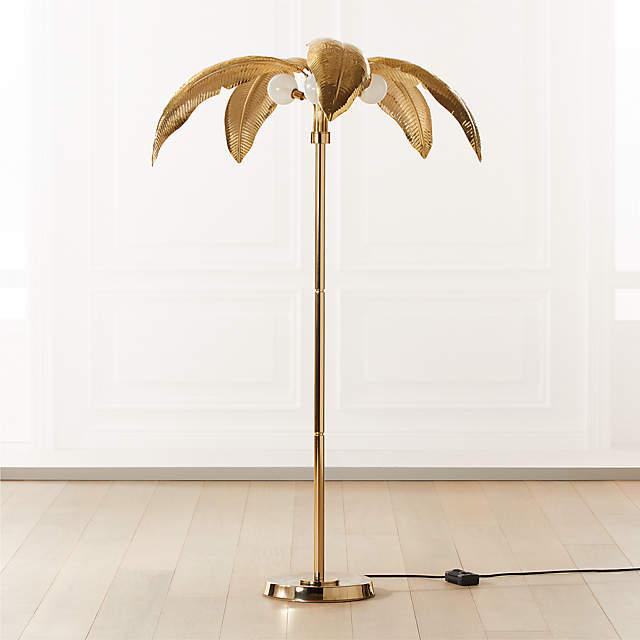 Palm Brass Floor Lamp Reviews Cb2, Palm Floor Lamp Cb2