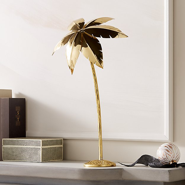"Palm Tree Gold 18"" - Image 1 of 7"