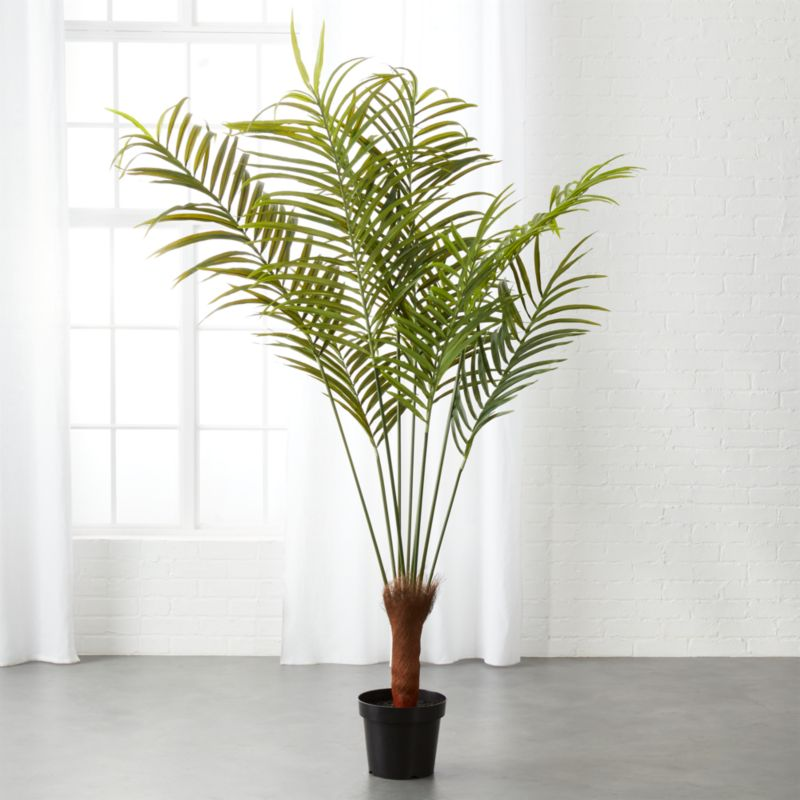 Potted Faux Palm Tree 5 5 Reviews Cb2