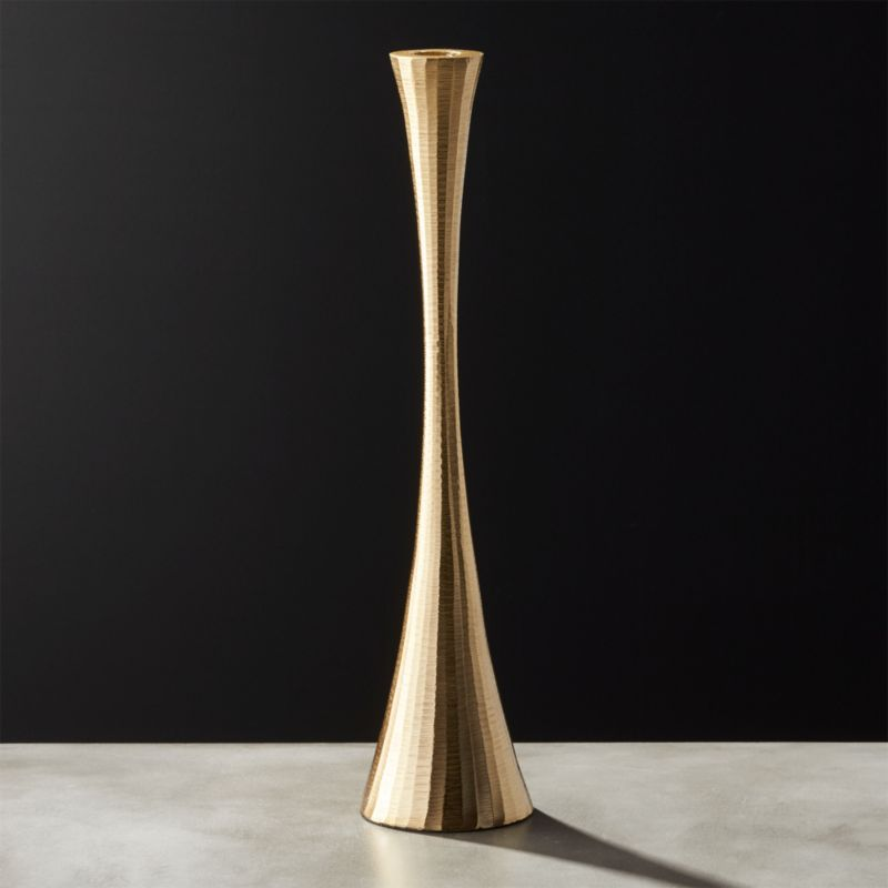 Gold Candle Holders Cb2