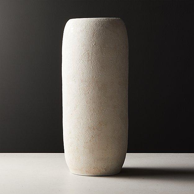 Palmilla Ivory Textured Vase - Image 1 of 7