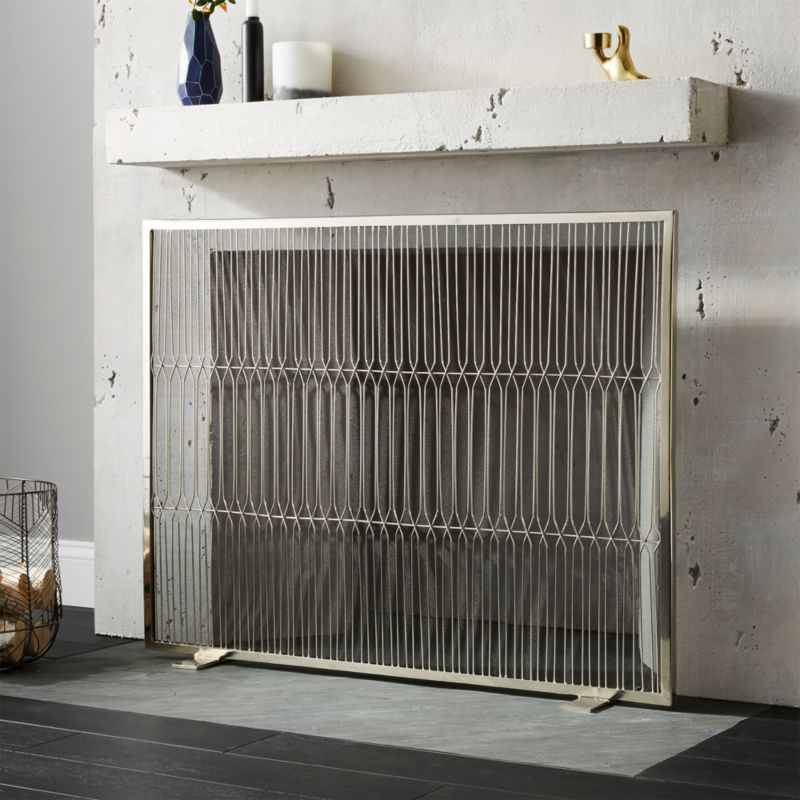 Panes Stainless Steel Fireplace Screen