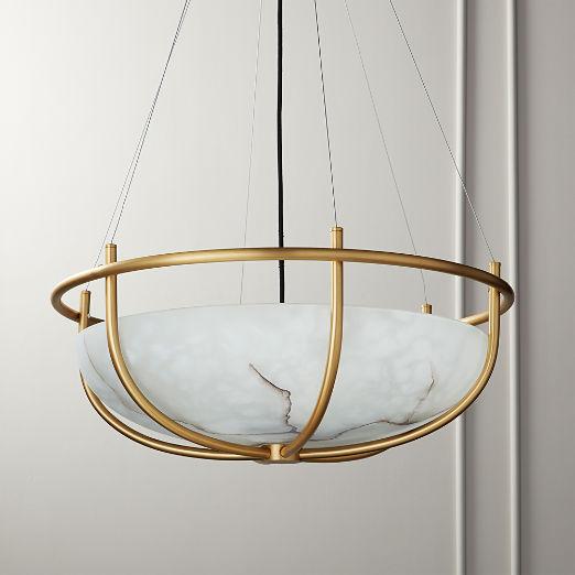 Parachute Glass Dome Chandelier