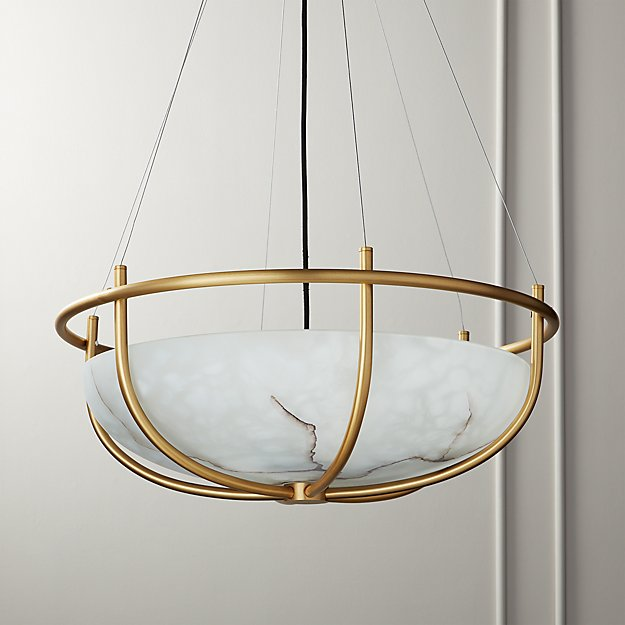 Parachute Glass Dome Chandelier - Image 1 of 11