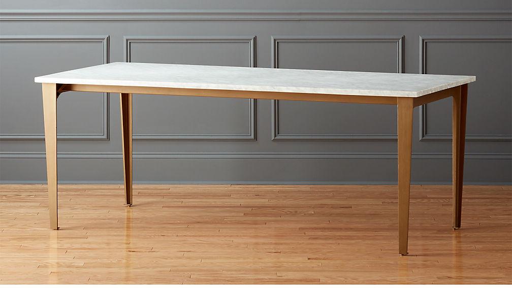 Paradigm 80 Quot Carrara Marble Dining Table Reviews Cb2