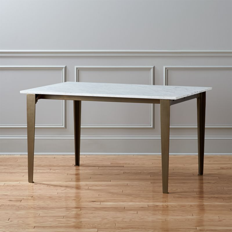 Paradigm Carrara Marble Kitchen Table Reviews Cb2