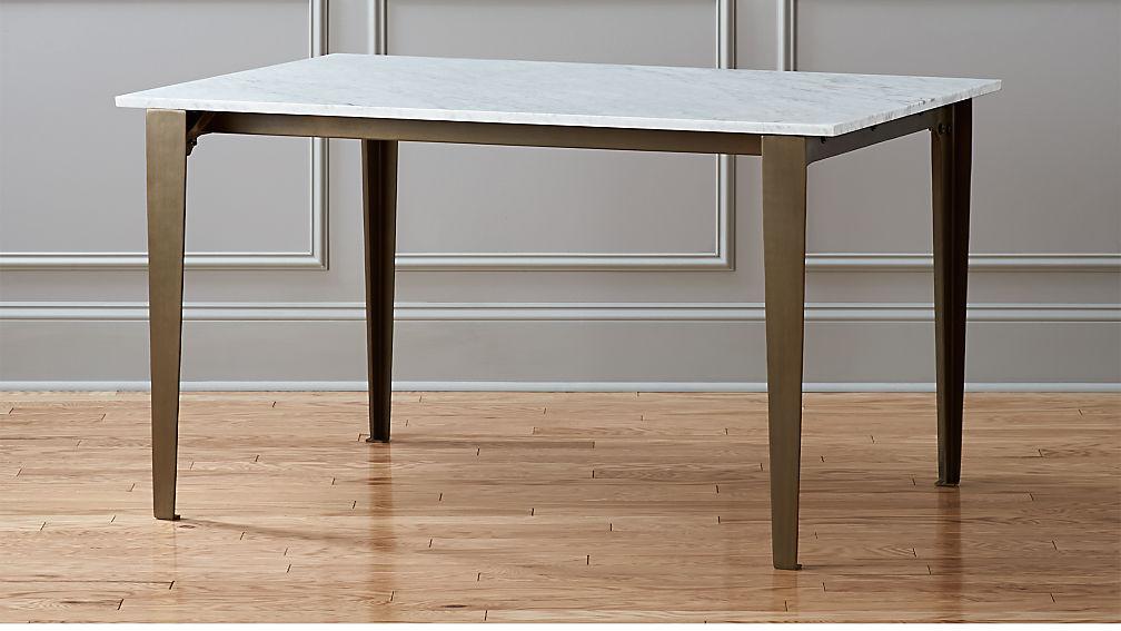Paradigm Carrara Marble Kitchen Table Reviews Cb2