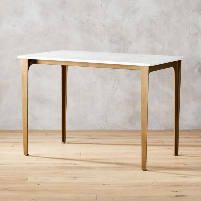 Paradigm Marble High Dining Table Reviews Cb2
