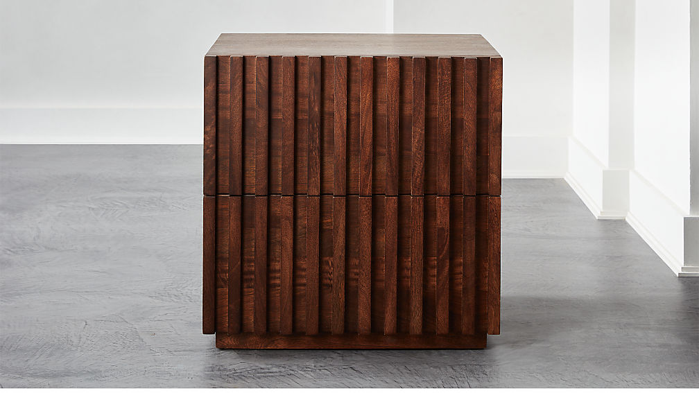 Parallel Wood Nightstand - Image 1 of 8