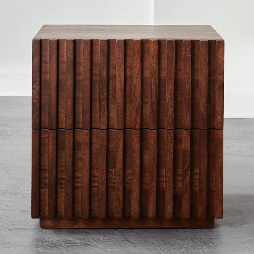 Parallel Wood Nightstand