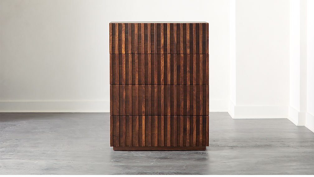 Parallel Wood Tall Chest - Image 1 of 9