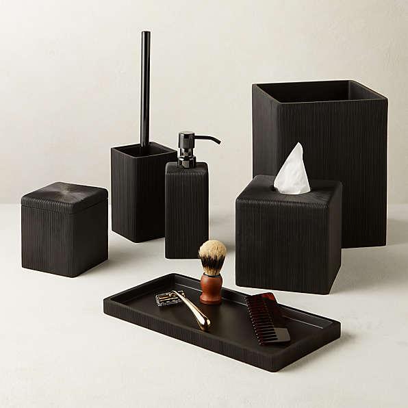 Unique Bath Accessories Cb2 Canada, Modern Bathroom Accessory Sets
