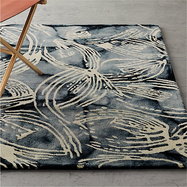 Pareo Blue and White Patterned Rug - Image 1 of 4