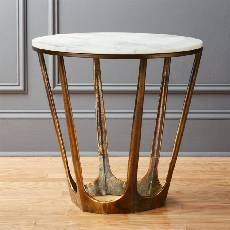 marble tables cb2. Black Bedroom Furniture Sets. Home Design Ideas