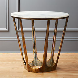 Modern Side Tables End Sofa And Accent Tables CB - Marble and wood side table