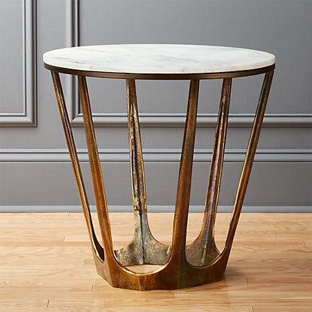 Awe Inspiring Parker White Marble Side Table Inzonedesignstudio Interior Chair Design Inzonedesignstudiocom